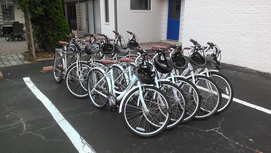 Our Bike rental fleet for sight seeing and cruising around St. Michaels