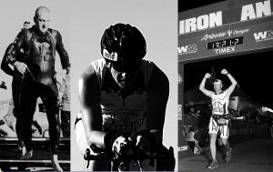 Owner Jason Chance competing in the IronMan Arizona in 2014.
