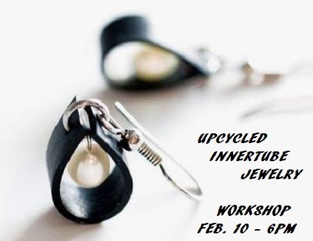 Upcycled Innertube Jewelry Workshop