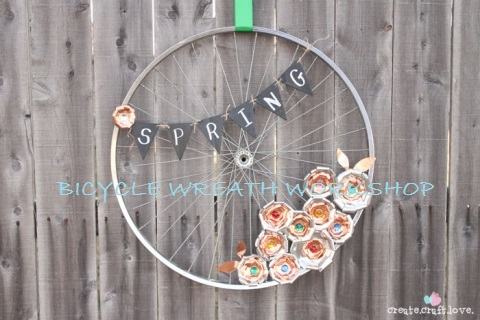 Spring Bicycle Wheel Wreath Workshop