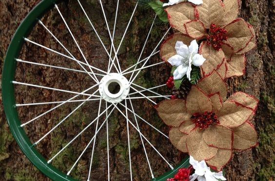 2018 Holiday Bicycle Wheel Wreath Workshop