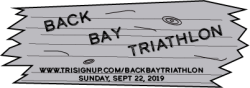 NEW SPRINT TRIATHLON:  Back Bay Triathlon Sept. 22, 2019