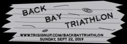 NEW SPRINT TRIATHLON:  Back Bay Triathlon Sept. 22, 2019